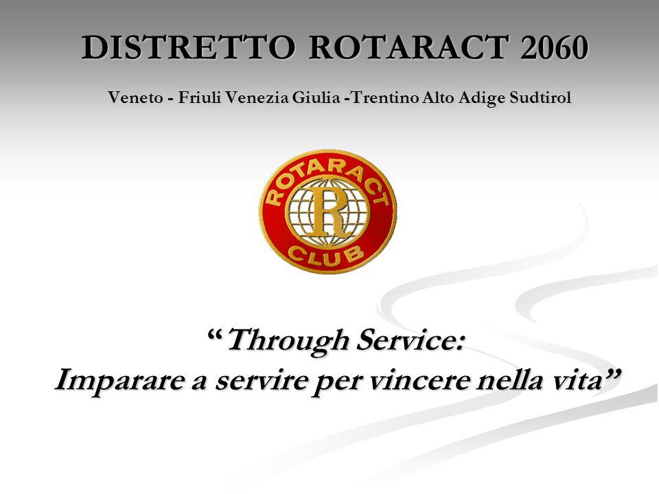 DISTRETTO ROTARACT 2060 Veneto - Friuli Venezia Giulia -Trentino Alto Adige Sudtirol Through Service: Imparare a servire per vincere nella vita