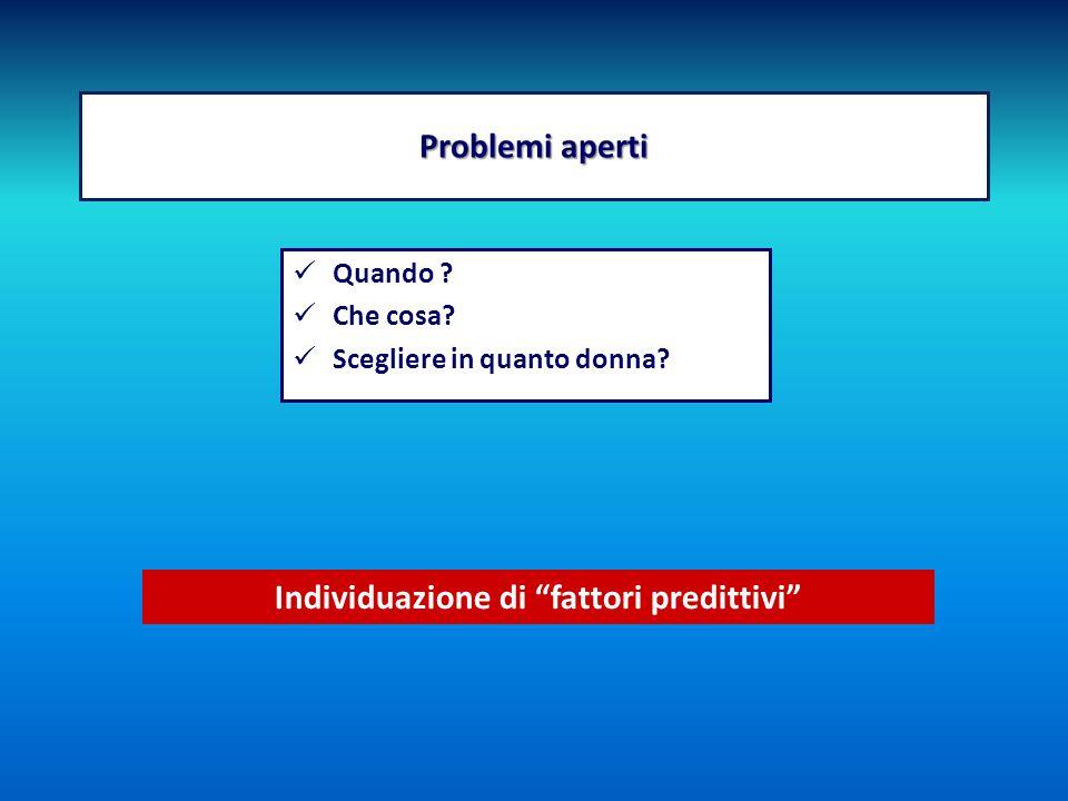 Individuazione di fattori predittivi