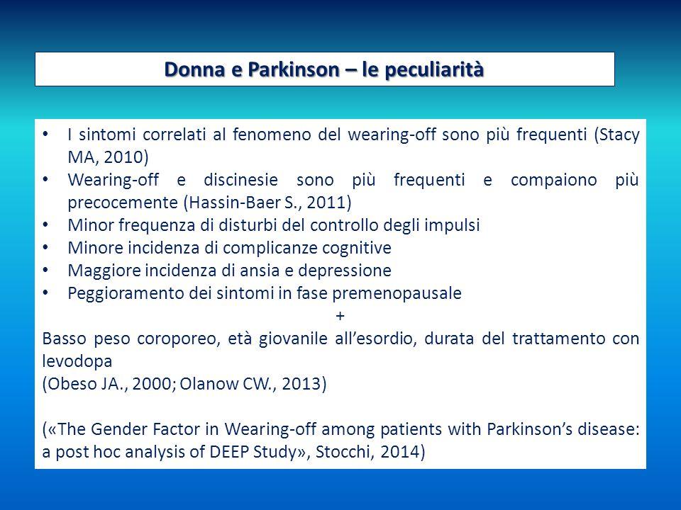 Donna e Parkinson – le peculiarità