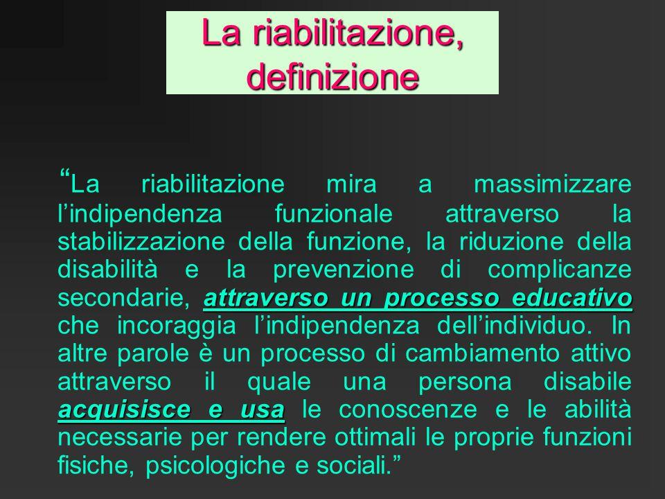 La riabilitazione, definizione