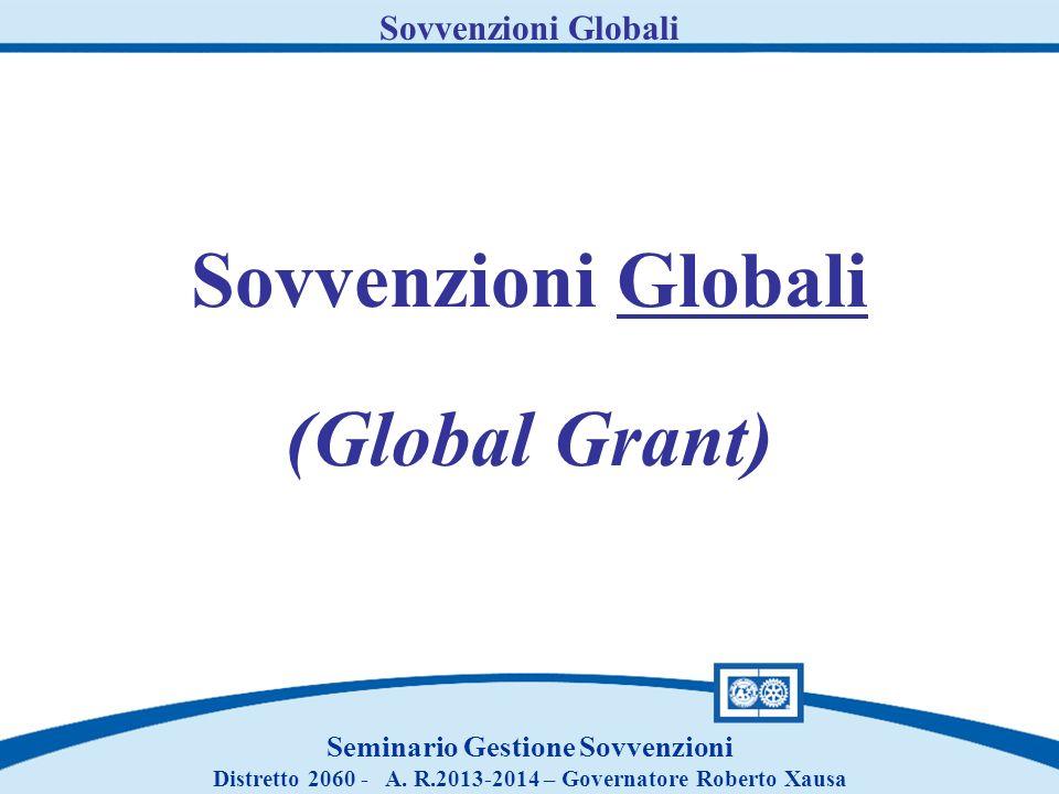 Sovvenzioni Globali (Global Grant)