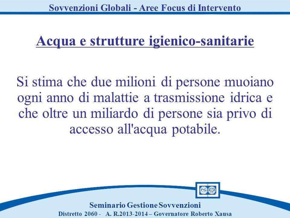 Acqua e strutture igienico-sanitarie