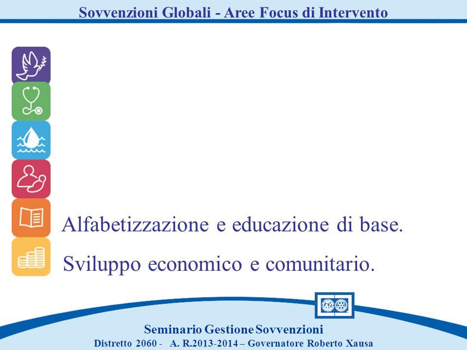 Alfabetizzazione e educazione di base.