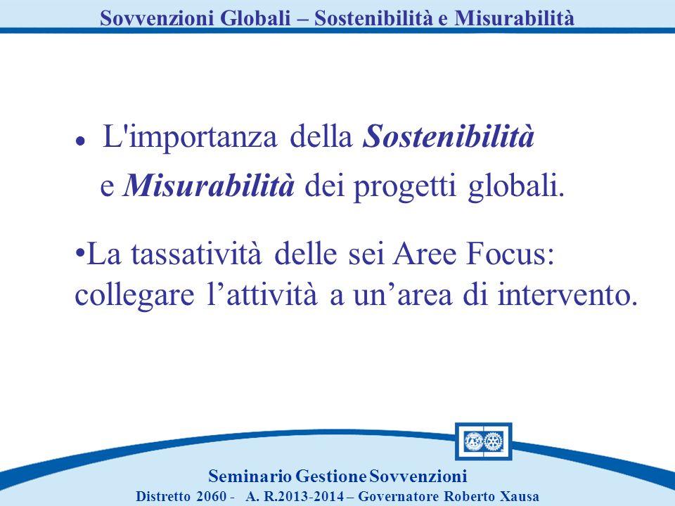 L importanza della Sostenibilità e Misurabilità dei progetti globali.