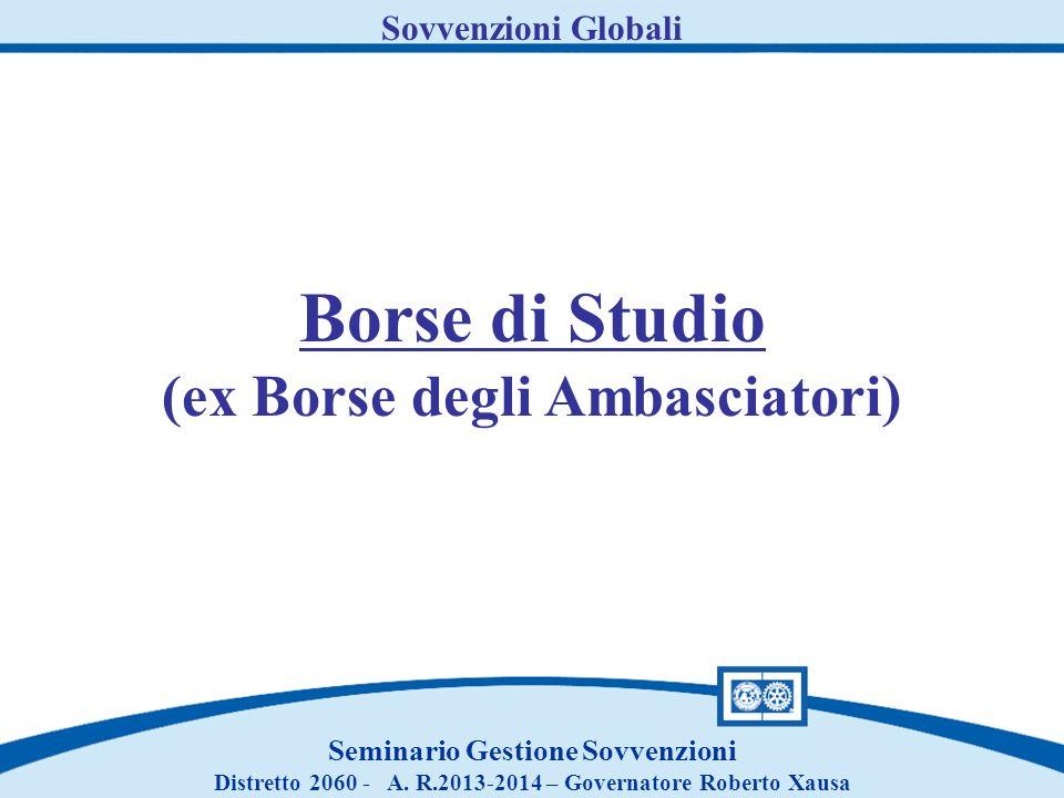 Borse di Studio (ex Borse degli Ambasciatori) Sovvenzioni Globali
