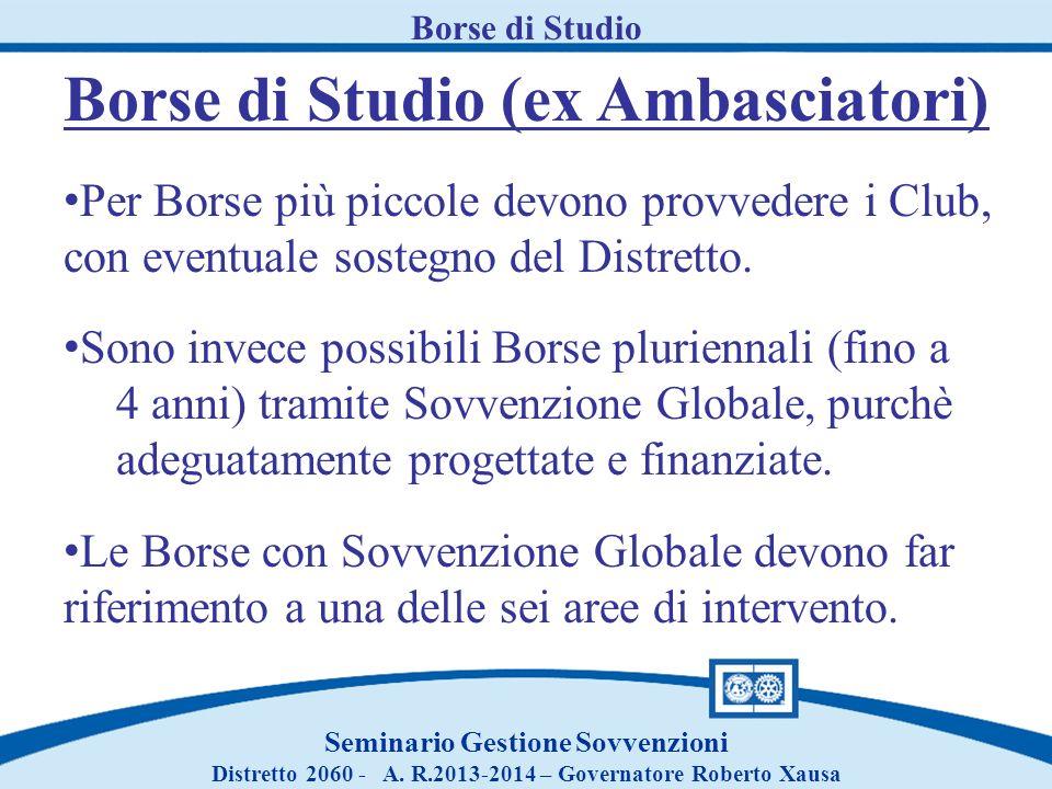 Borse di Studio (ex Ambasciatori)