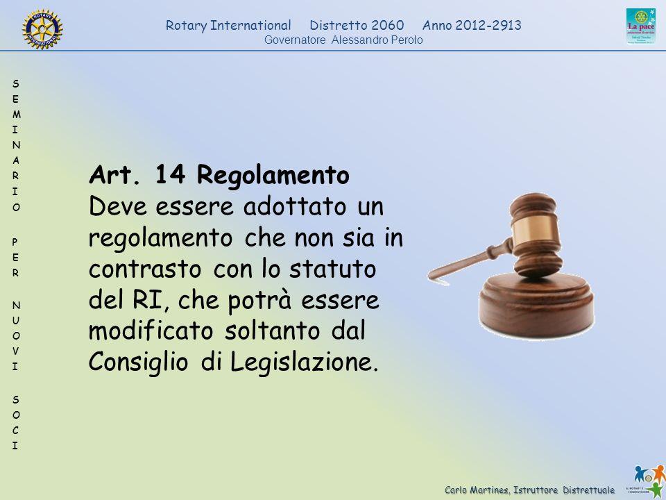 Art. 14 Regolamento