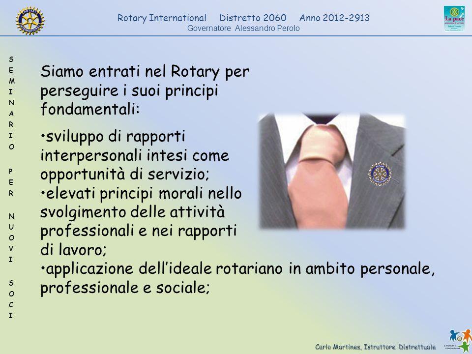 Siamo entrati nel Rotary per
