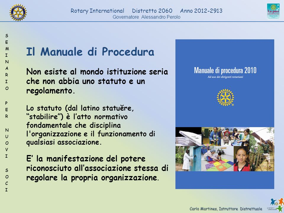 Il Manuale di Procedura