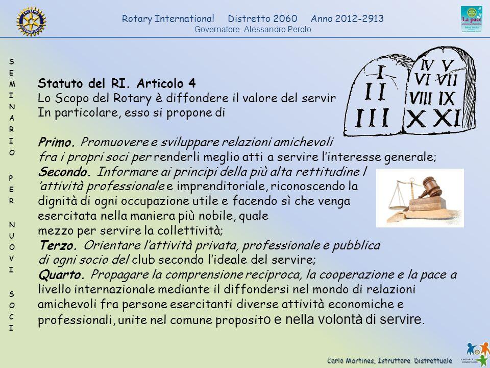 Statuto del RI. Articolo 4