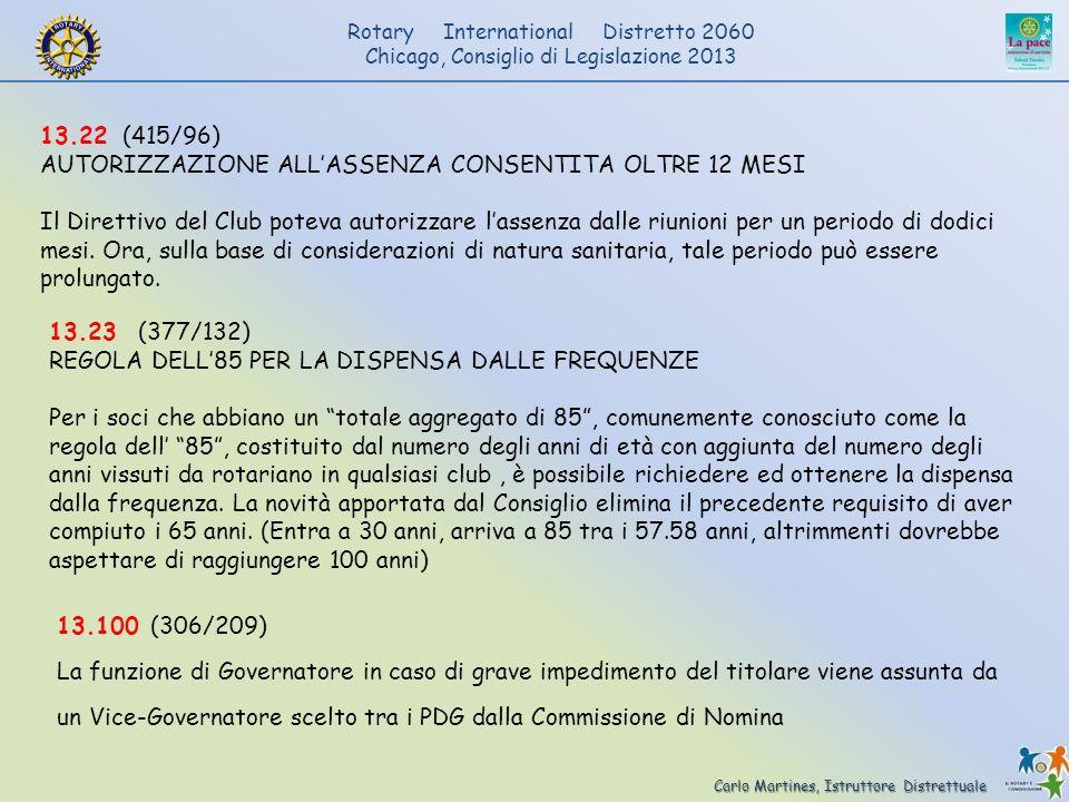 13.22 (415/96) AUTORIZZAZIONE ALL'ASSENZA CONSENTITA OLTRE 12 MESI.