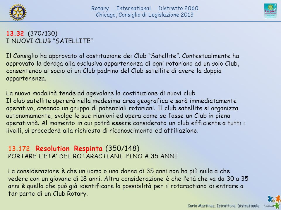 13.32 (370/130) I NUOVI CLUB SATELLITE