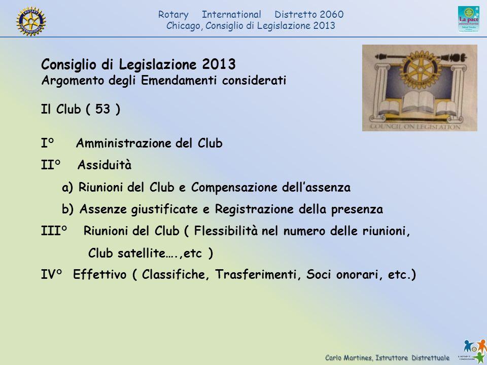 Consiglio di Legislazione 2013