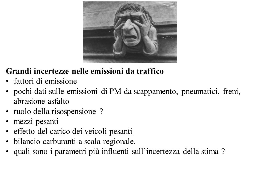 Grandi incertezze nelle emissioni da traffico