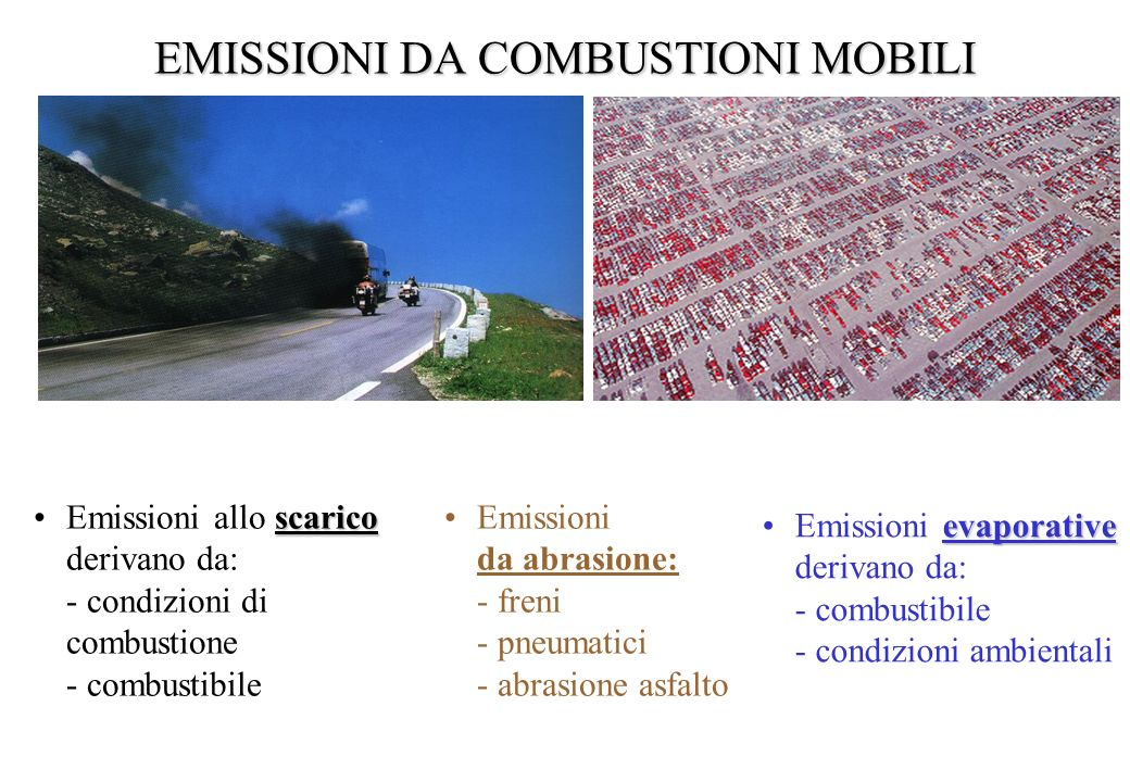 EMISSIONI DA COMBUSTIONI MOBILI