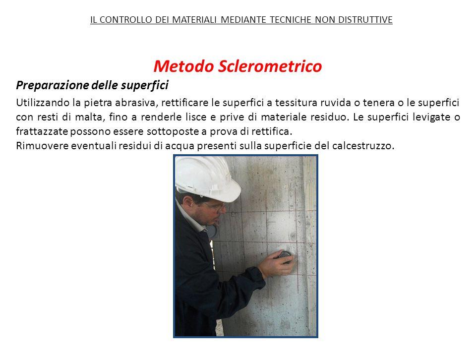 Metodo Sclerometrico Preparazione delle superfici
