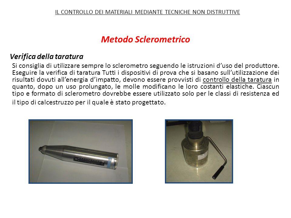 Metodo Sclerometrico Verifica della taratura