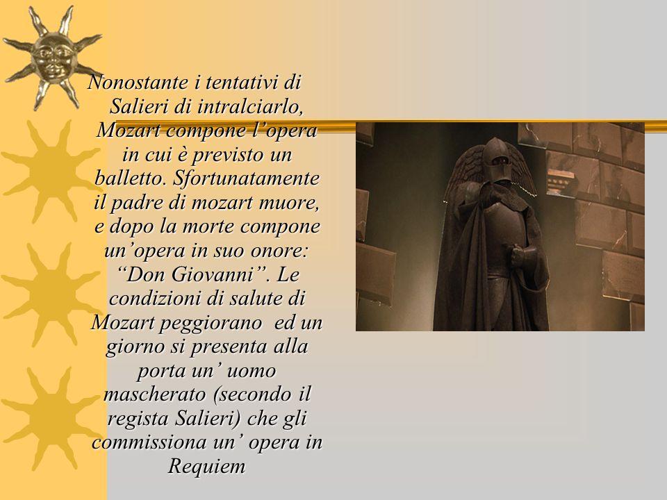 Nonostante i tentativi di Salieri di intralciarlo, Mozart compone l'opera in cui è previsto un balletto.