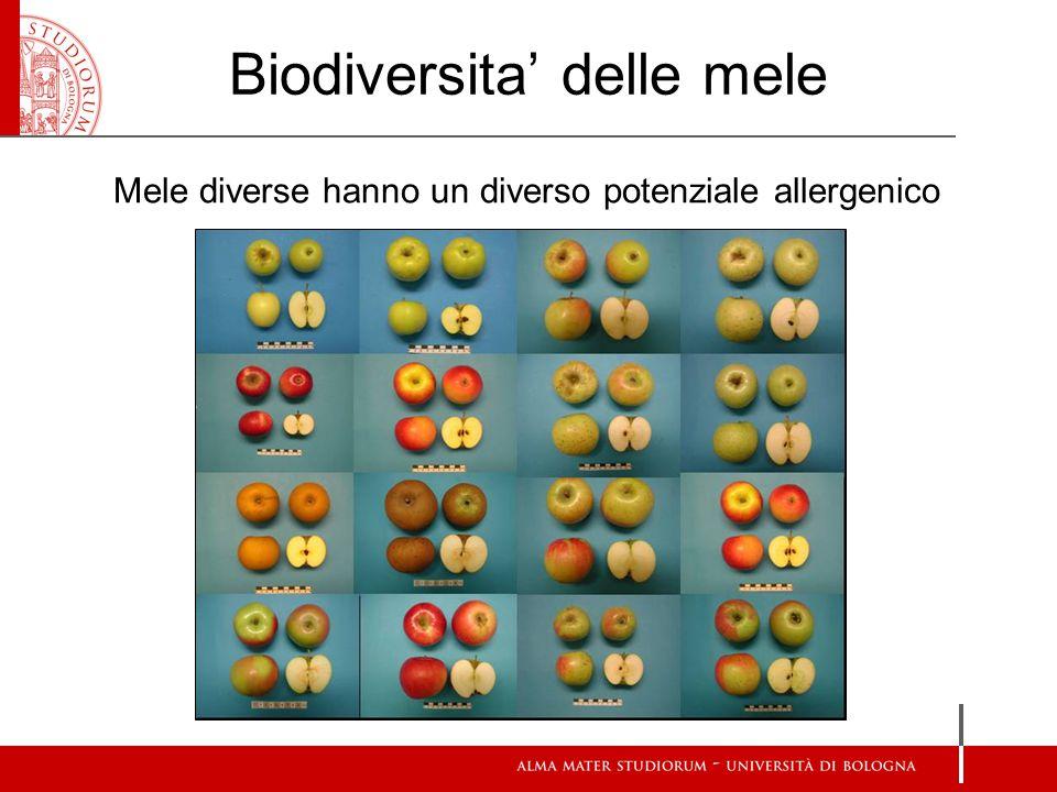 Biodiversita' delle mele