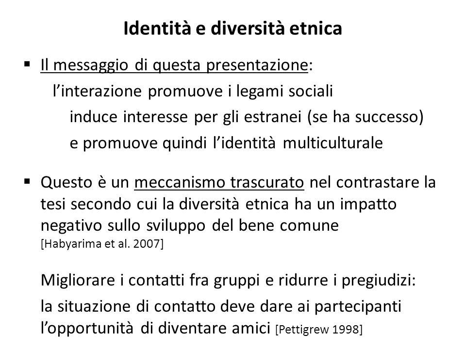 Identità e diversità etnica