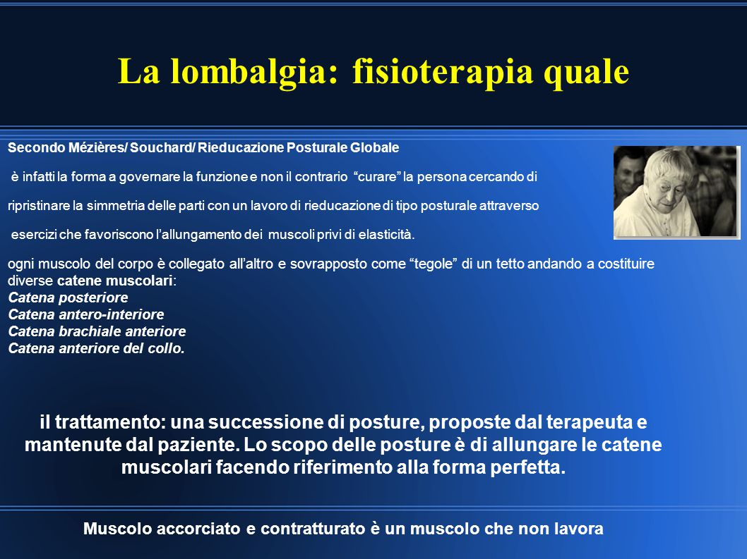 La lombalgia: fisioterapia quale