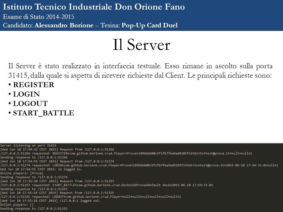 Il Server Istituto Tecnico Industriale Don Orione Fano