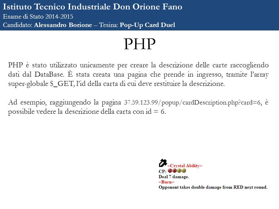 PHP Istituto Tecnico Industriale Don Orione Fano