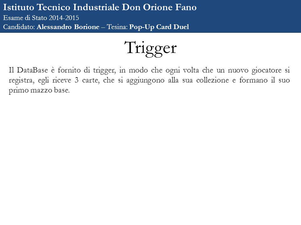 Trigger Istituto Tecnico Industriale Don Orione Fano