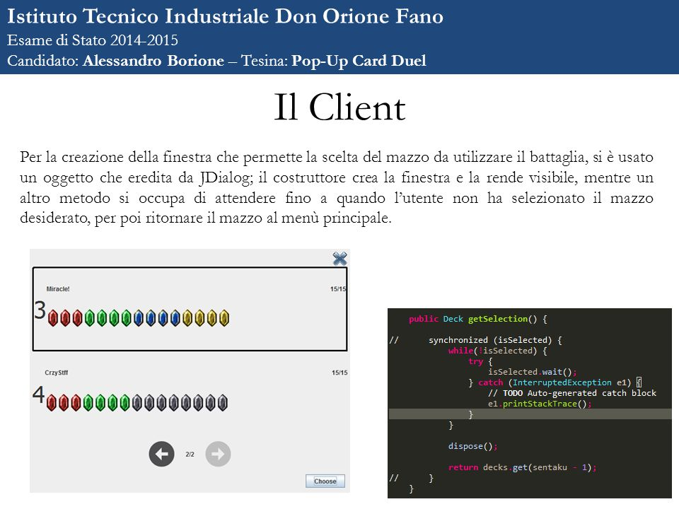 Il Client Istituto Tecnico Industriale Don Orione Fano