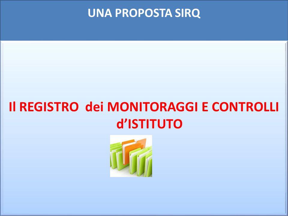 Il REGISTRO dei MONITORAGGI E CONTROLLI d'ISTITUTO