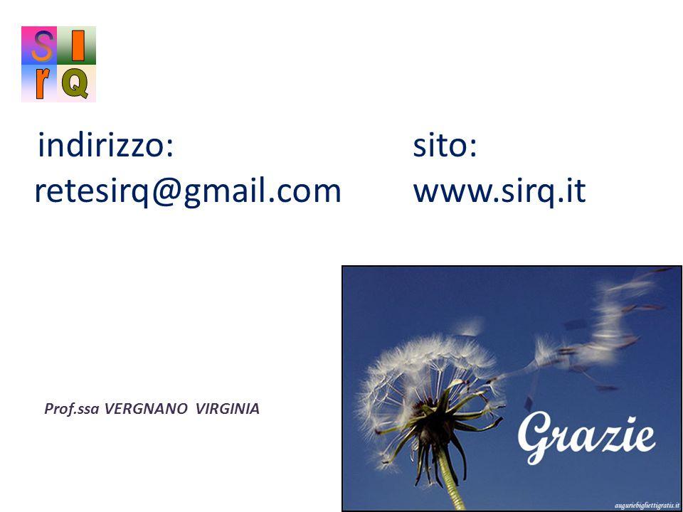 sito: www.sirq.it S I r Q r indirizzo: retesirq@gmail.com
