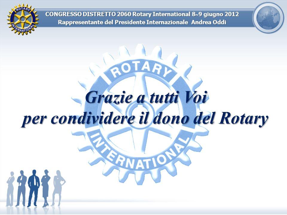 per condividere il dono del Rotary