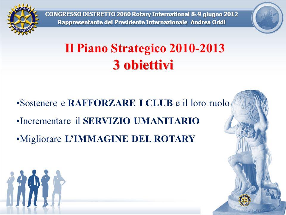 Il Piano Strategico 2010-2013 3 obiettivi