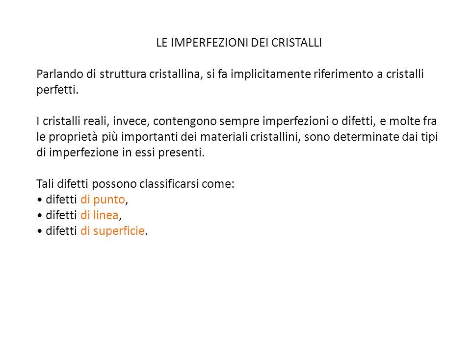 LE IMPERFEZIONI DEI CRISTALLI