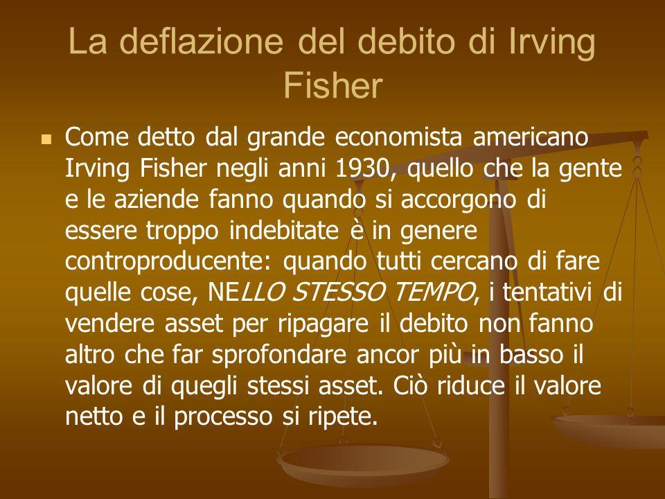 La deflazione del debito di Irving Fisher