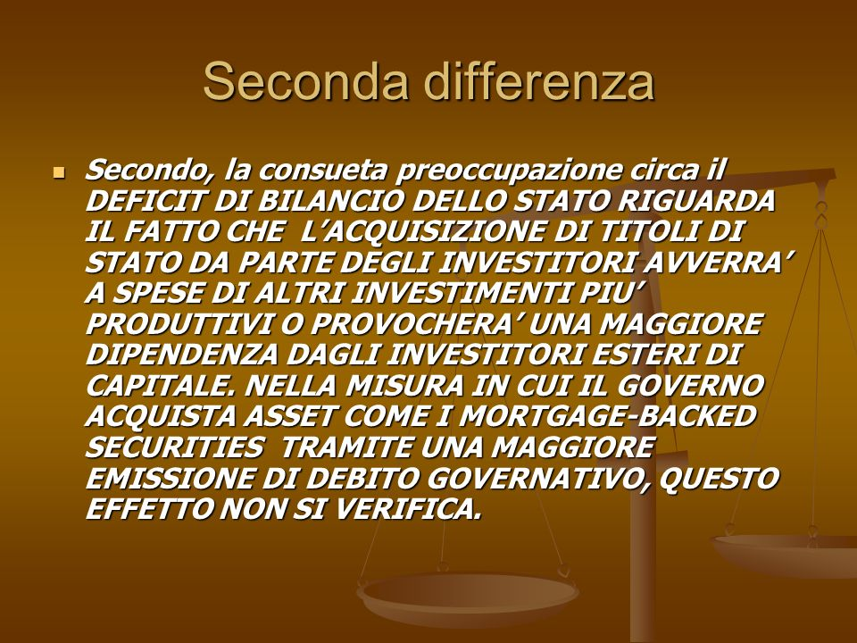 Seconda differenza