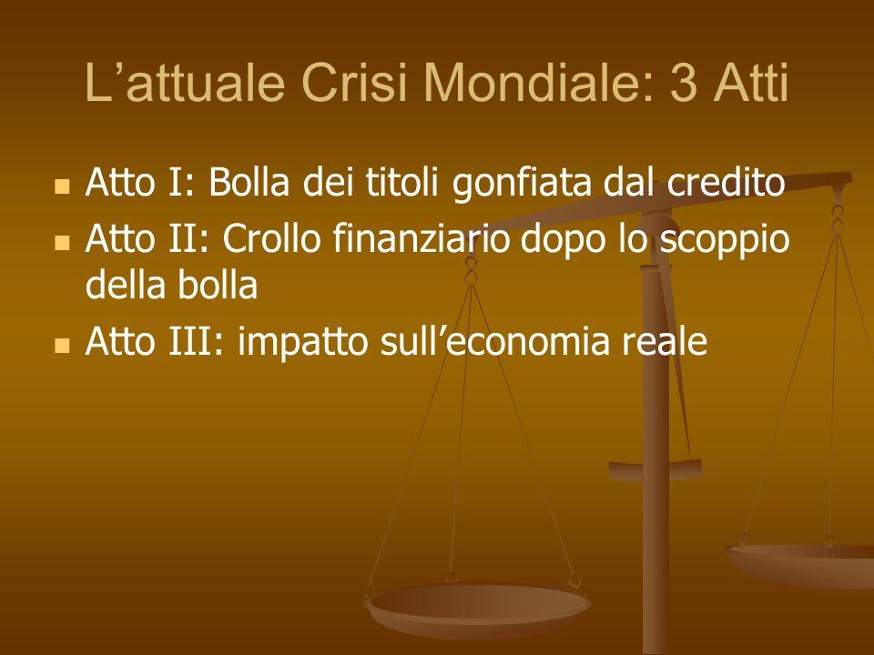 L'attuale Crisi Mondiale: 3 Atti