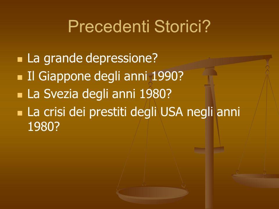 Precedenti Storici La grande depressione