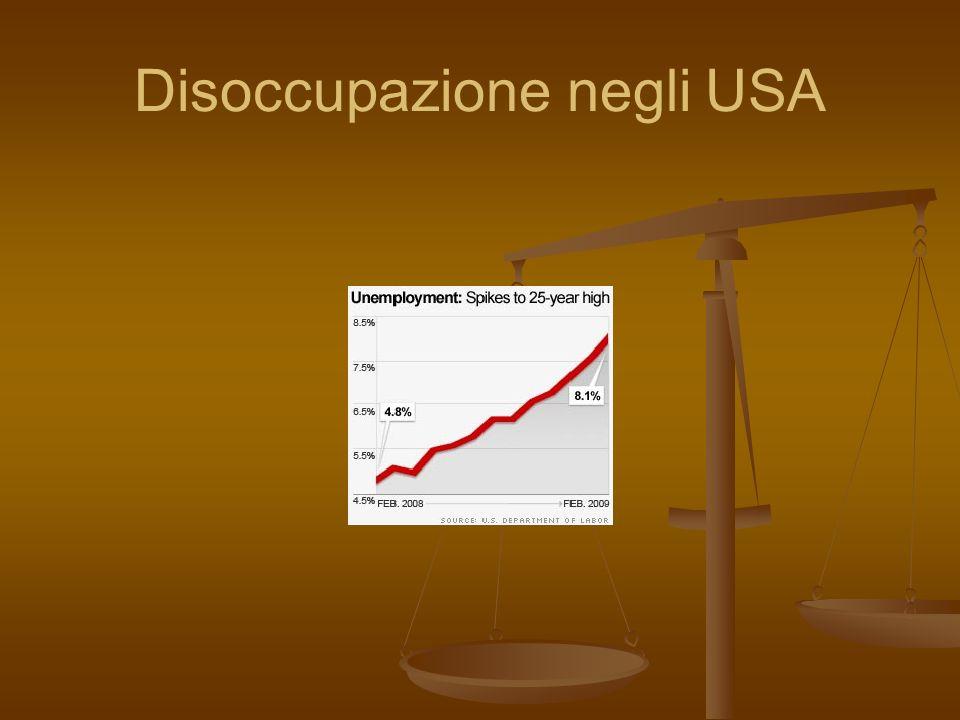 Disoccupazione negli USA