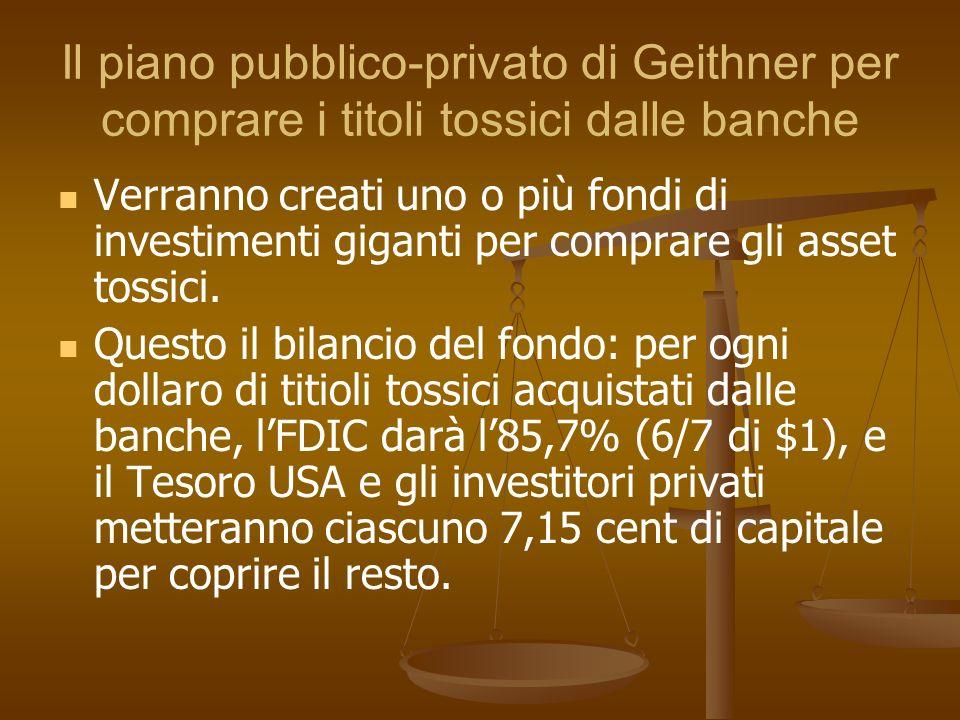 Il piano pubblico-privato di Geithner per comprare i titoli tossici dalle banche