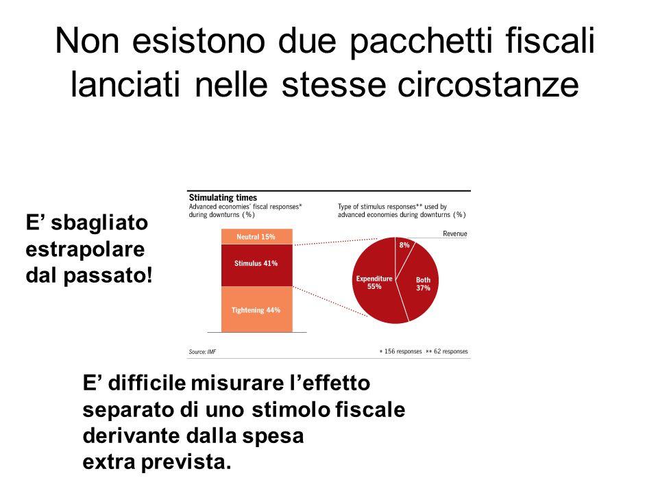 Non esistono due pacchetti fiscali lanciati nelle stesse circostanze