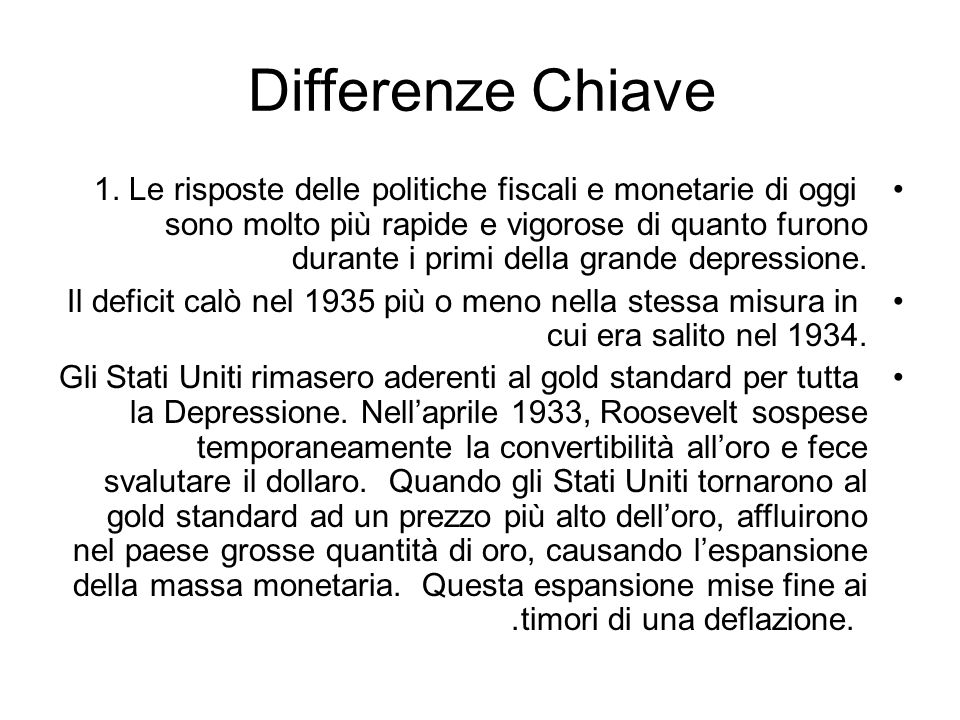 Differenze Chiave