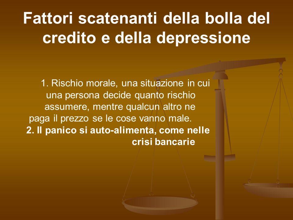 Fattori scatenanti della bolla del credito e della depressione