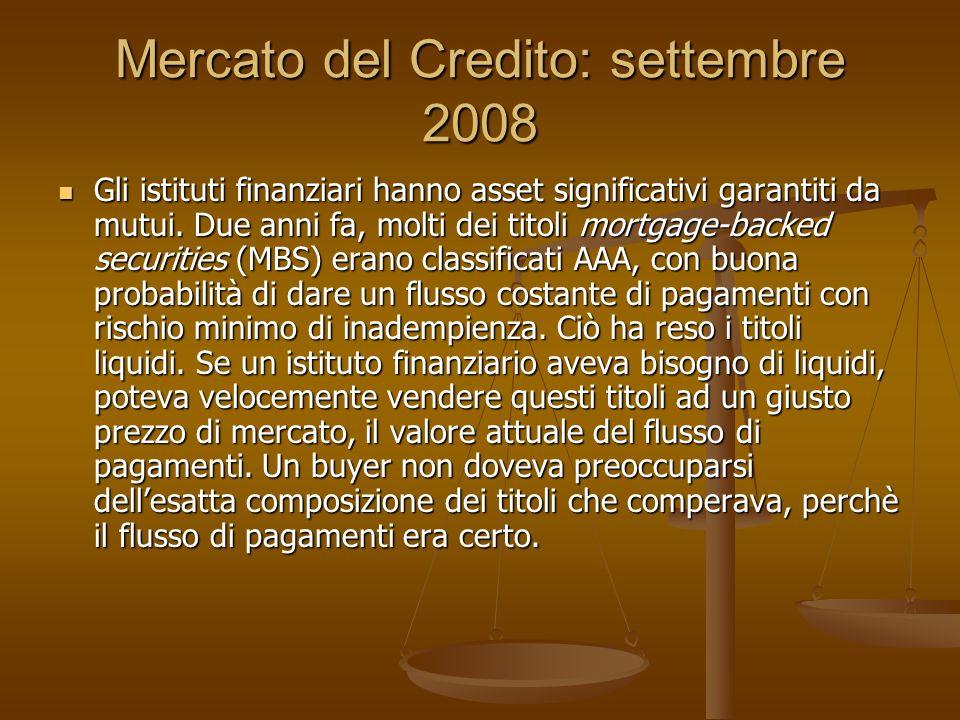 Mercato del Credito: settembre 2008