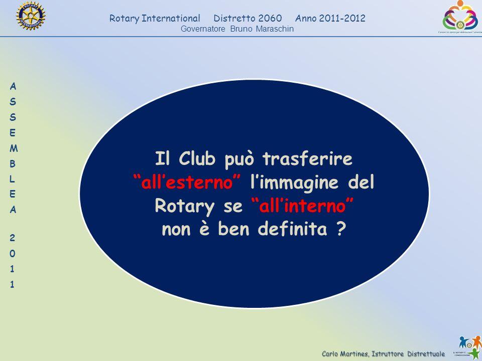 Il Club può trasferire all'esterno l'immagine del Rotary se all'interno non è ben definita