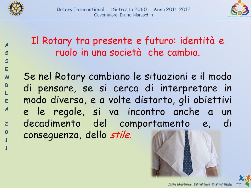 Il Rotary tra presente e futuro: identità e ruolo in una società che cambia.