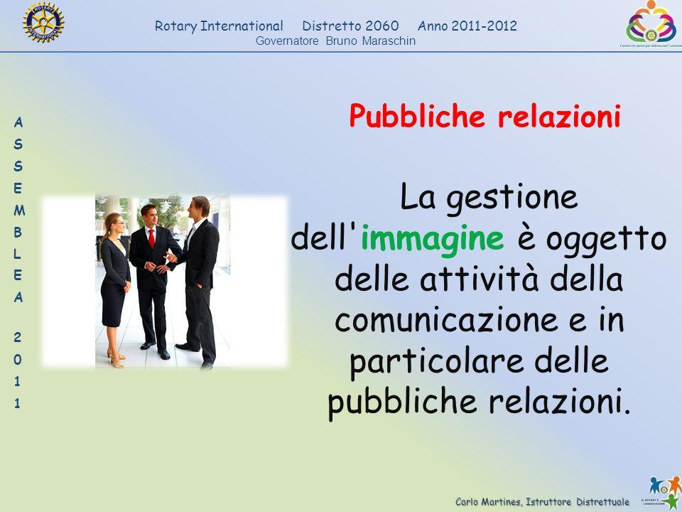 Pubbliche relazioni La gestione dell immagine è oggetto delle attività della comunicazione e in particolare delle pubbliche relazioni.