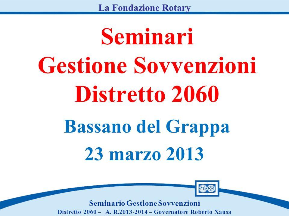 Seminari Gestione Sovvenzioni Distretto 2060