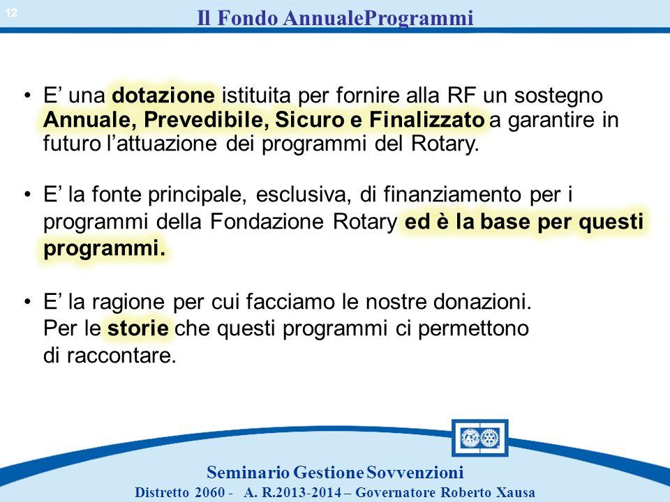 Il Fondo AnnualeProgrammi