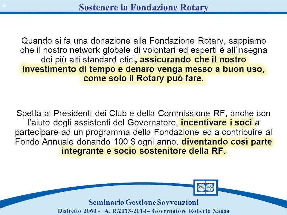 Sostenere la Fondazione Rotary
